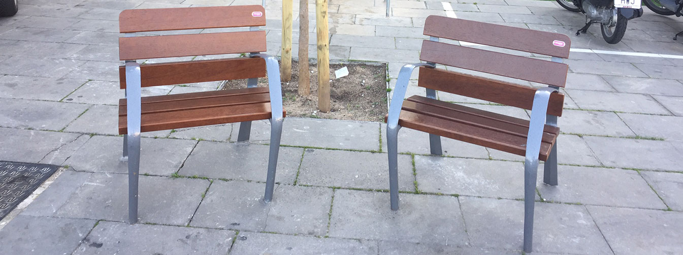 Novatilu installed more than 350 benches BCN21 in Hospitalet